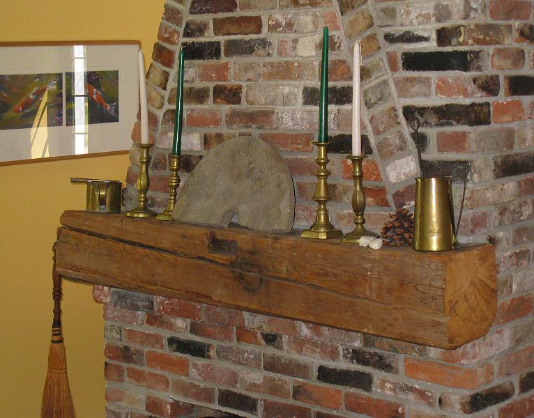 The Old Barn Beam Mantlepiece