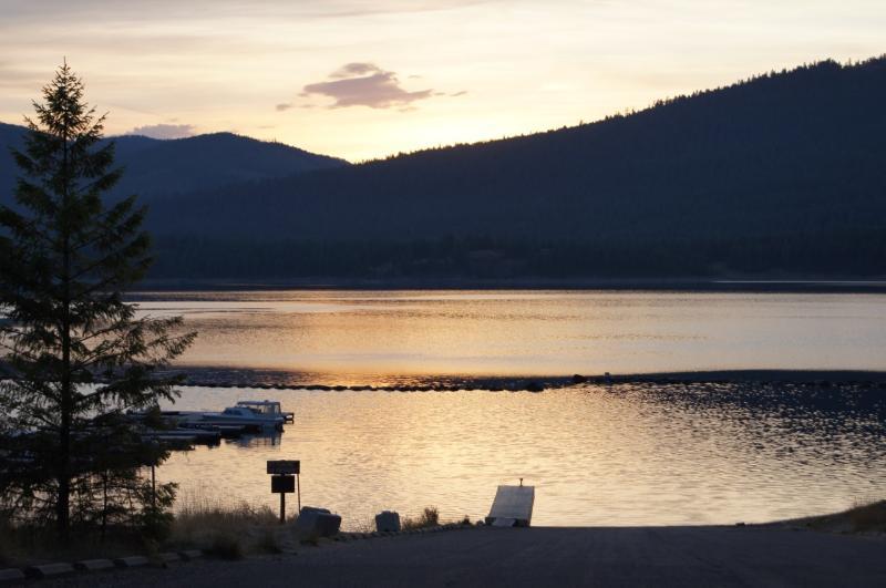 Lake Koocanusa at sunset.