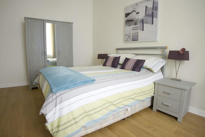 The large double bedroom is a relaxing space