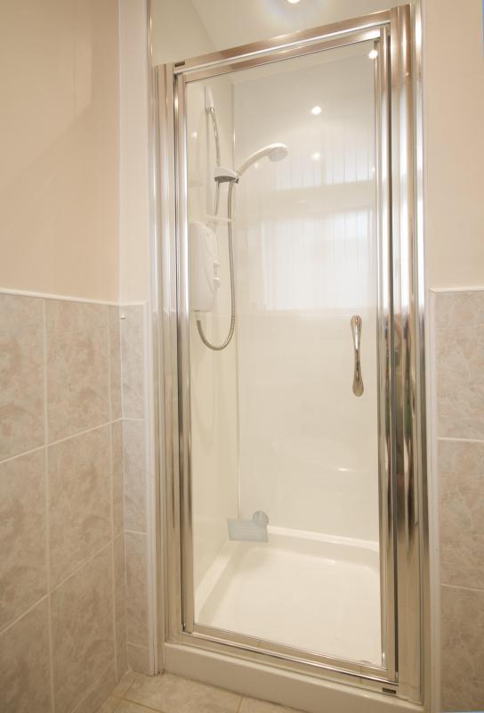 electric shower within the shower room