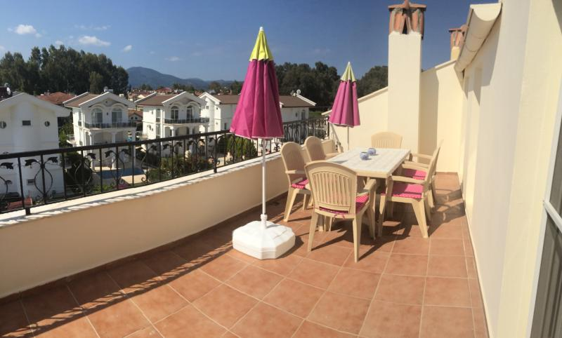 Roof terrace looking towards the sea & promenade which is only a 5 minute walk away