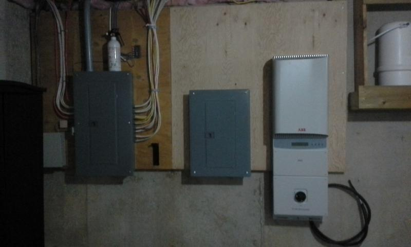 240 VDC to 120 VAC inverter in basement