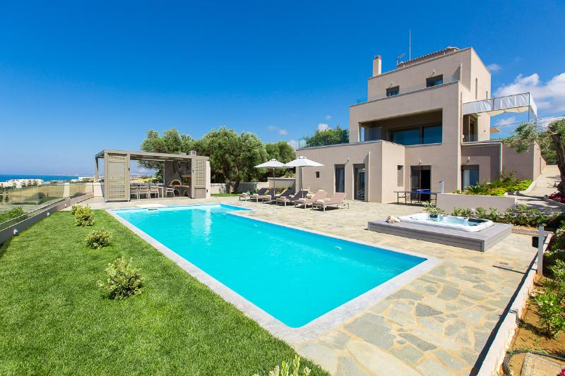 The outdoor areas and facade of the villa!
