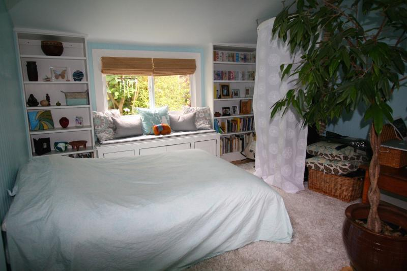 back bedroom with full bed