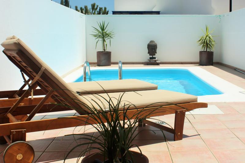 Piscina privada y zona de relax