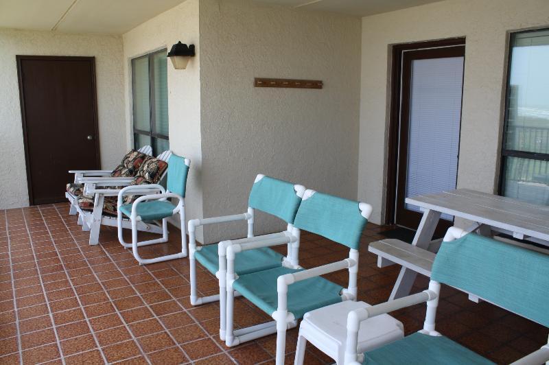 Plenty of patio seating