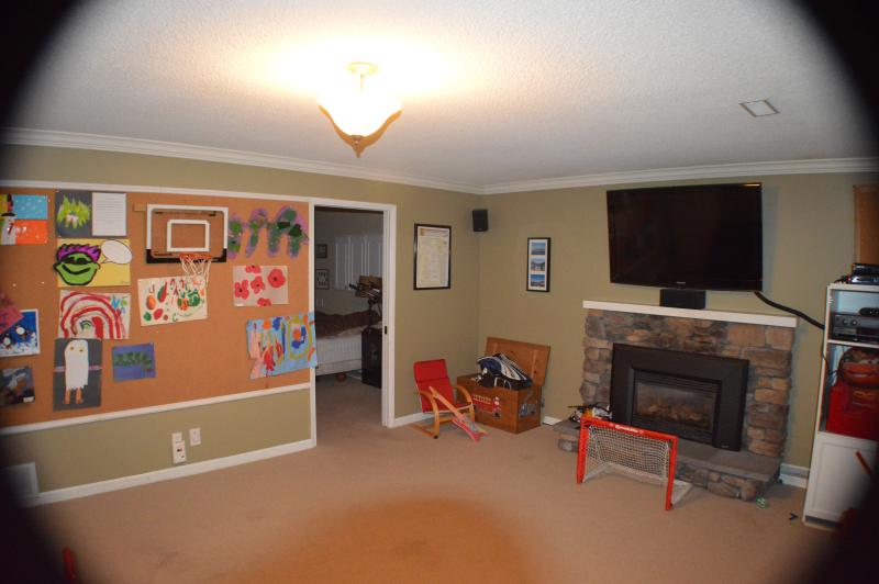 Recreation room with 52' TV and surround sound stereo