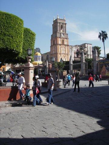 The Jardín, just 1 block away.