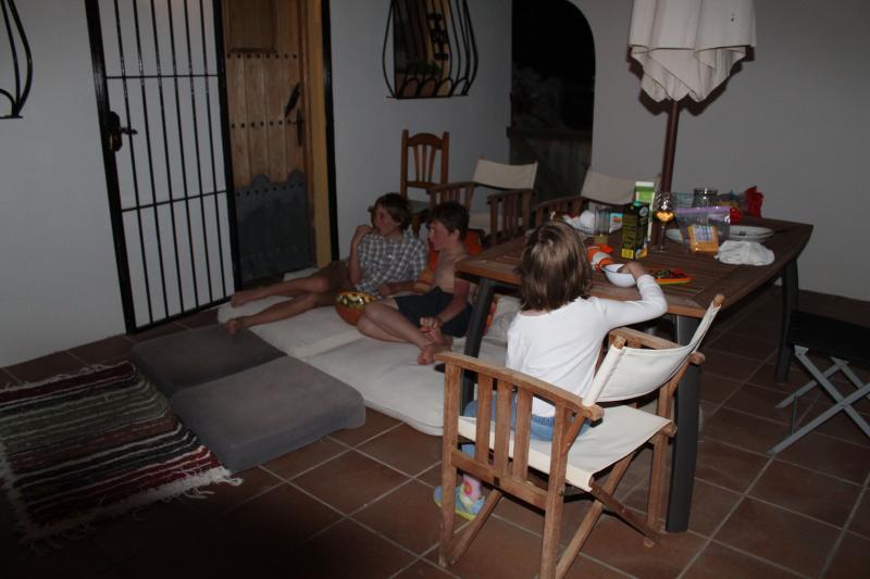 Movie night on the terrace