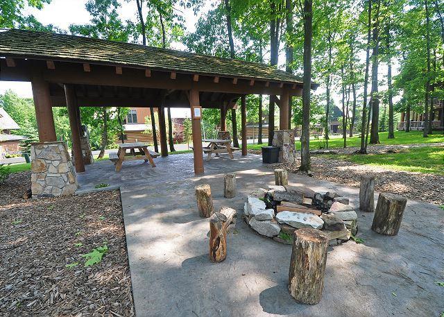 Community Pavilion and Fire Pit