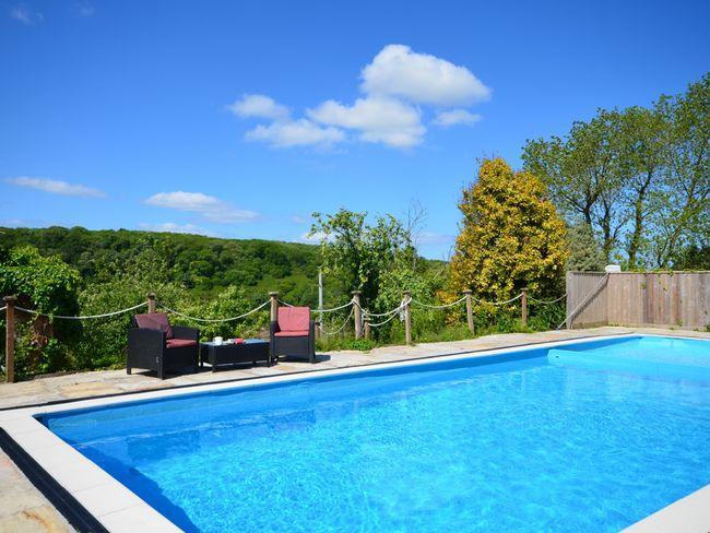 Outside heated swimming pool