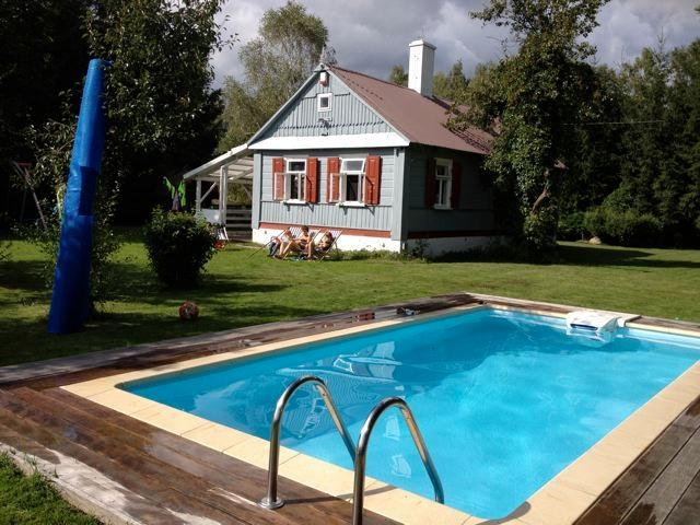 Country house with pool, Gołowierzchy, Poland, vacation rental in Lukow