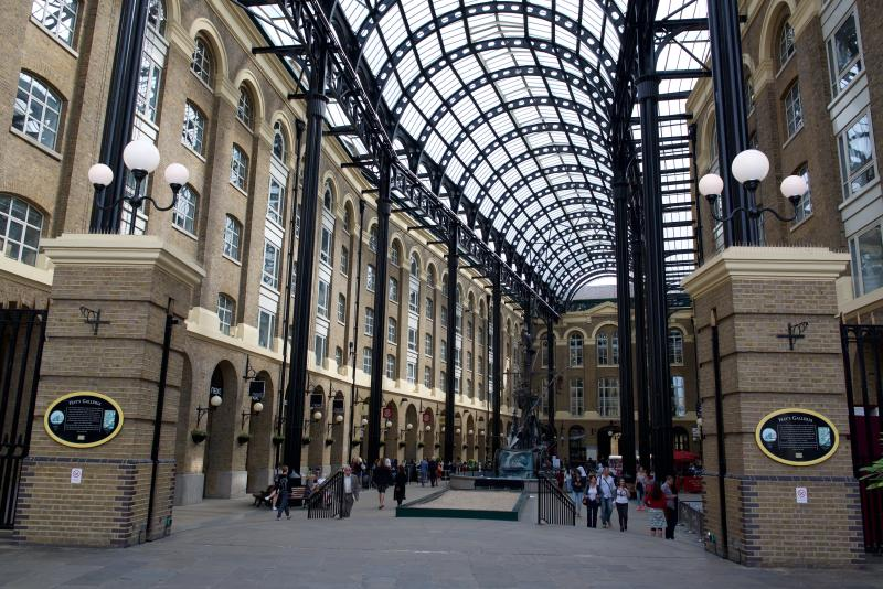 Hays Galleria - a vibrant mix of eateries, boutiques and bars built over the old Hays dock