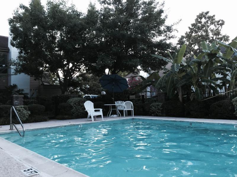 Quiet swimming pool area