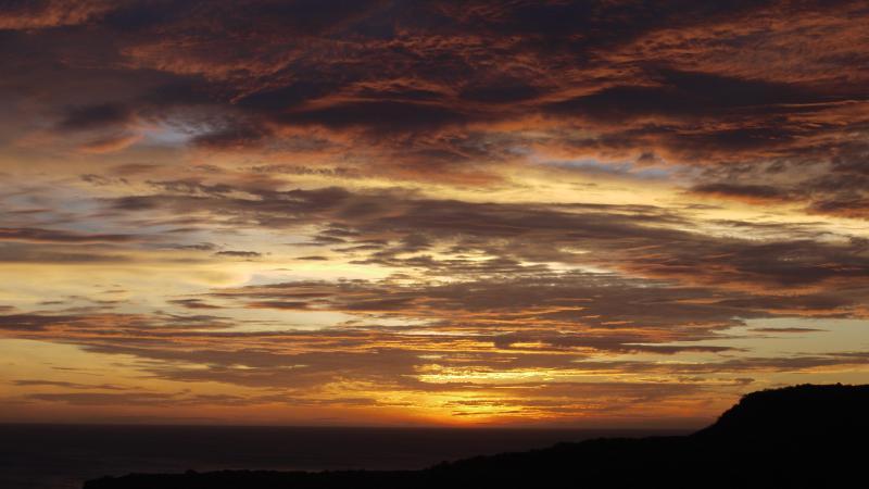 Todos los días disfrute de una inigualable puesta de sol.