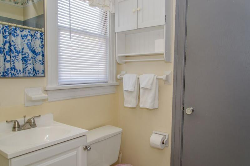 Remodeled Bathroom is conveniently located Like Jack And Jill bathroom that give you comfort.
