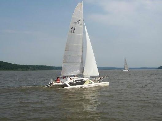 Faire du bateau avec notre ami Dan à Hudson voile