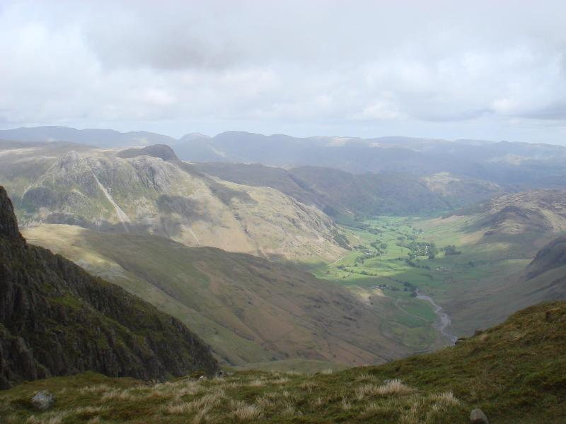 View from Crinkle Crags onto Landale