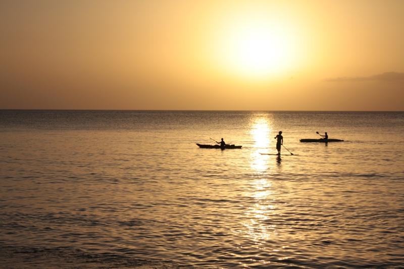 Le coucher de Soleil sur la mer des Caraïbes : à bientôt?...