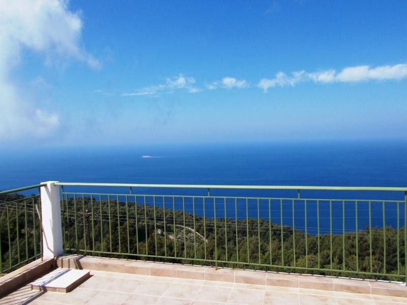 Sunny horizon view from the veranda