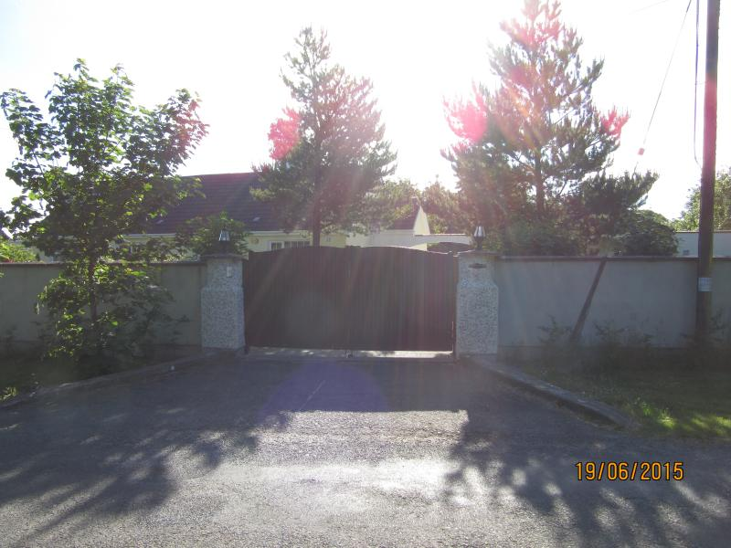 front gates to cottage
