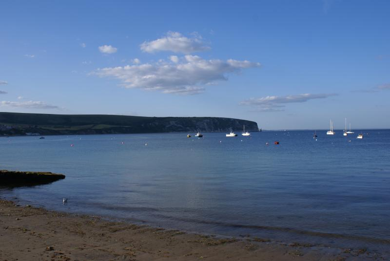 Swanage Bay in the evening.