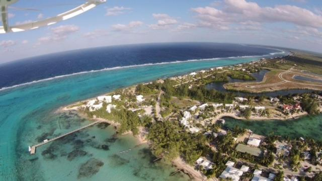 Retreat and Rum Point Dock from the air!