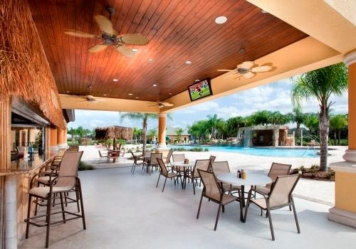 The Tiki Bar has a delicous menu of food and drinks to enjoy poolside.
