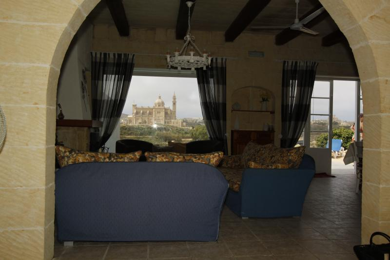 Ta' Pinu Sanctuary from Living Room