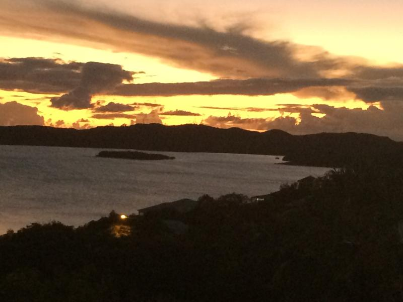 Sunset over Nazareth Bay