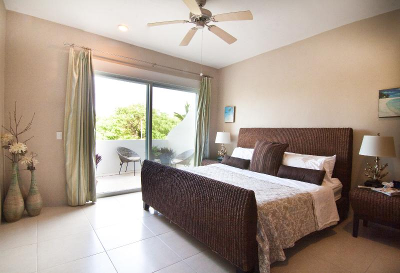 Master Suite With Balcony,King Size Bed, Ensuite Bathroom, and Safe