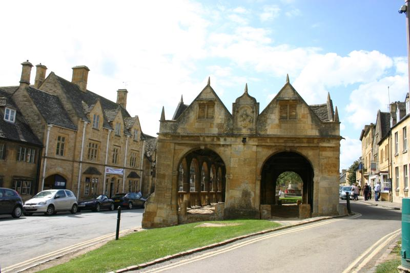 The Old Market Hall in the centre of Chipping Campden