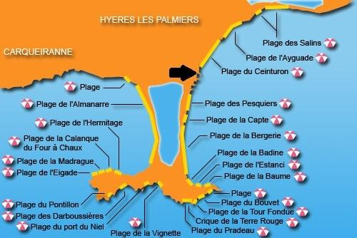 many beaches to Hyères and many activities