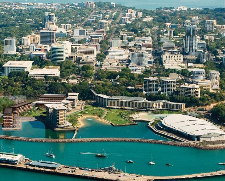 Lado de muelle marítimo Darwin edificio ubicación en el mapa