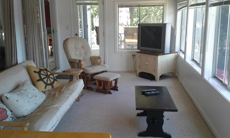 porch/living room - Has a futon couch