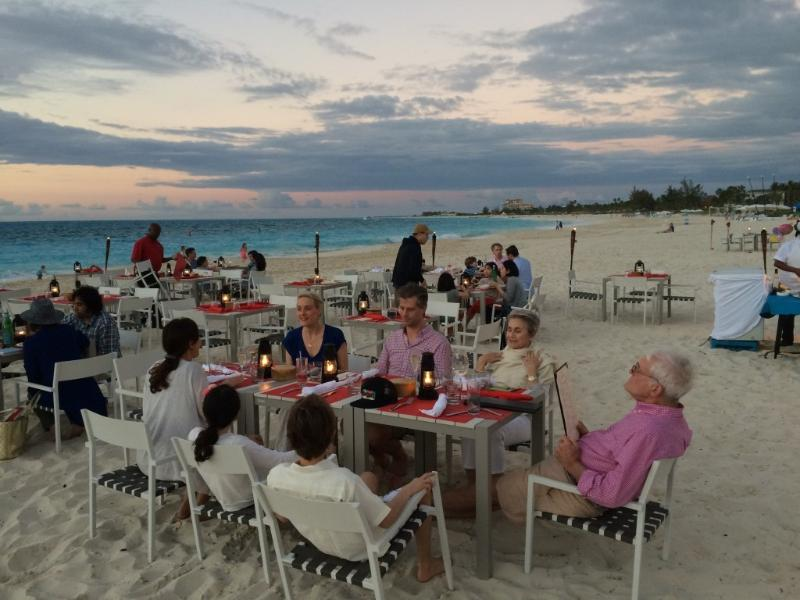 Dinner on the beach not far from Le Castellet: Provo Villa