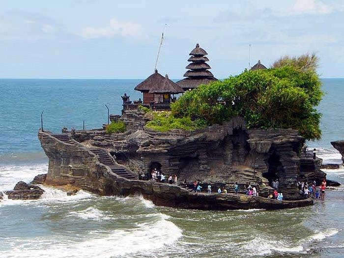Majestueux Temple de Tanah lot autour de route une heure de la villa