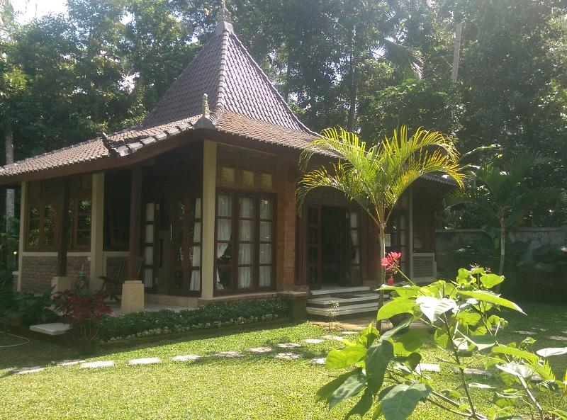 This charming antique house set in luscious garden surrounded by jungle...