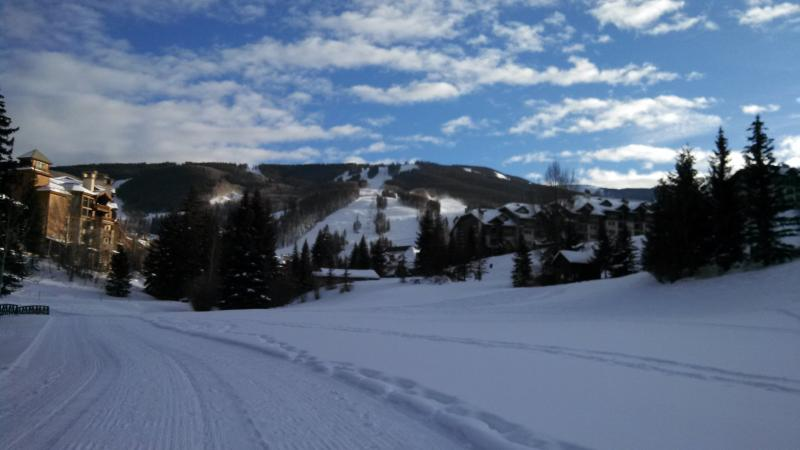 view of the Beaver Creek ski runs from the golf course