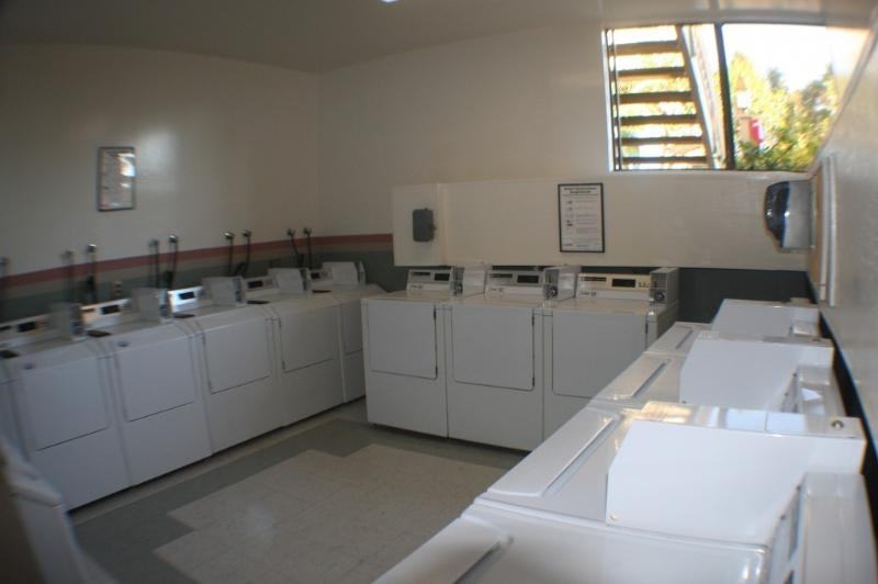 Laundry Room.  We love this because we do 5 loads at once and only waste 1 hour.