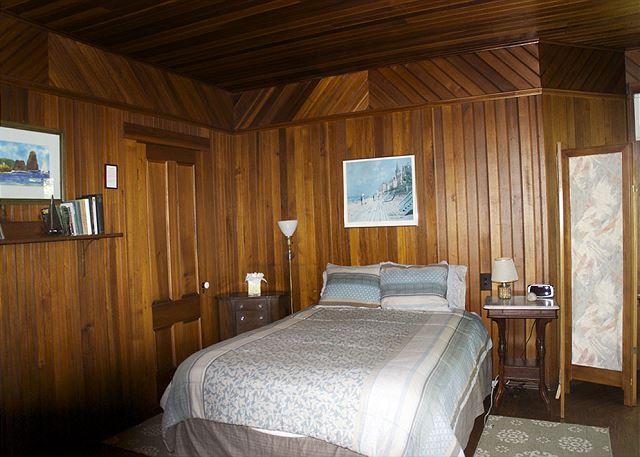 2nd floor queen bedroom with shared ensuite bath.