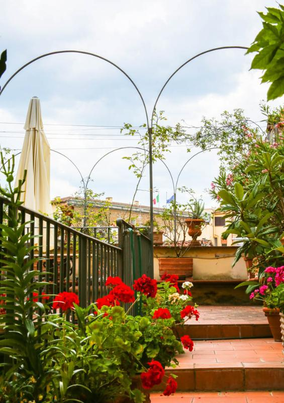 My beautyful terrace with view of Pitti Palace (view from the bedroom)