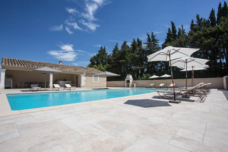The gigantic shared swimming pool at Le Mas des Oliviers à Saint Rémy de Provence
