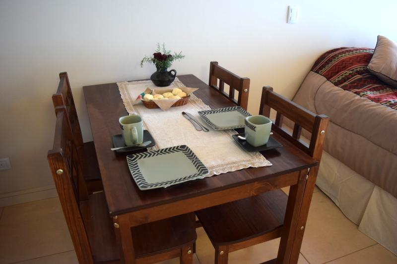 comfortable dining table for 4 persons
