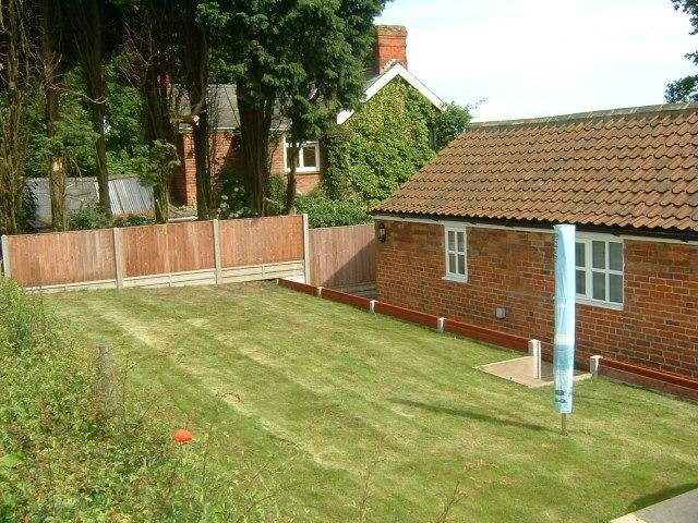 Enclosed back garden