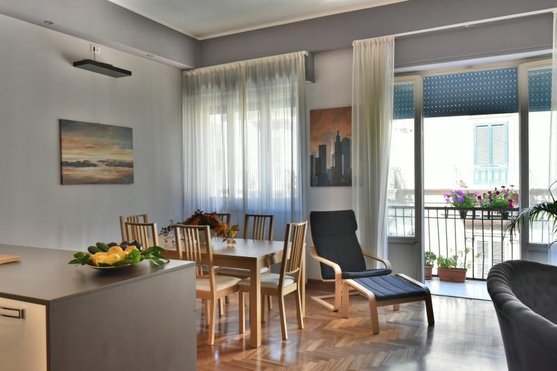 Ampio Open Space, zona cucina pranzo soggiorno