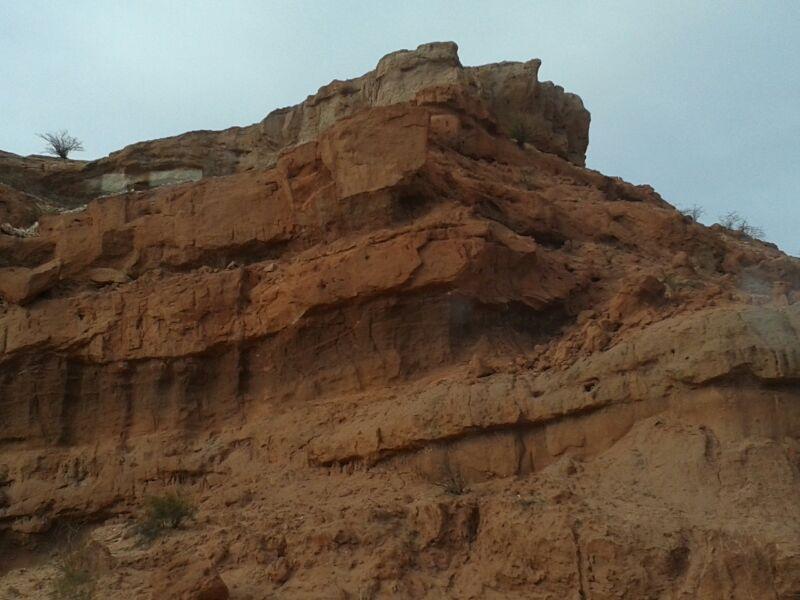primer plano de las formaciones en piedra llamadas 'mil hojas'