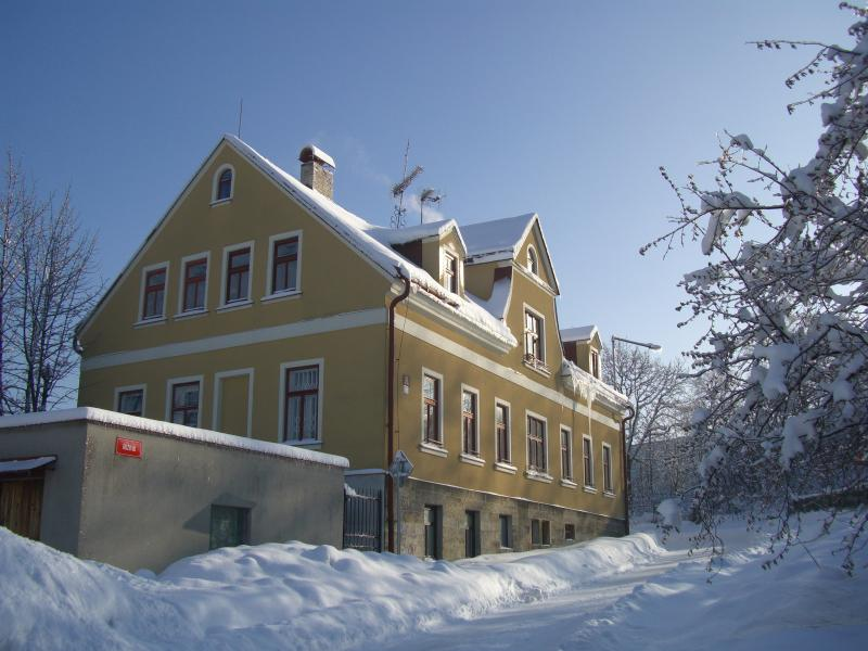 House in the winter, several skiing resorts are around the town