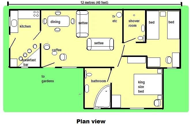 Plan view of rooms,