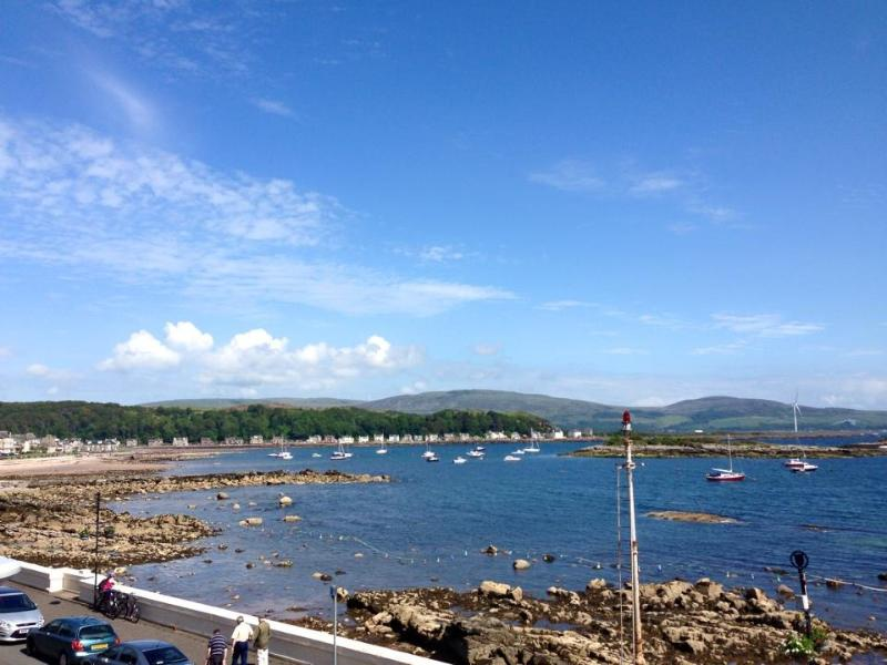 Great sea views and beach views from Millport Beach Apartment, Stuart Street, Millport
